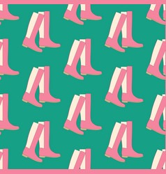 boots shoes pattern vector image vector image