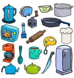 Cartoonish kitchen vector image vector image