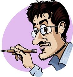 cartoonist vector image vector image