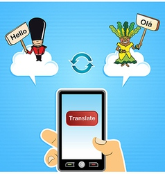Cloud computing translation concept vector