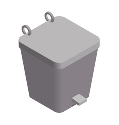 Colorful isometric dustbin vector image vector image