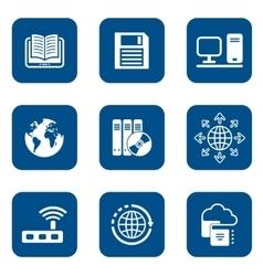 Digital internet icons vector