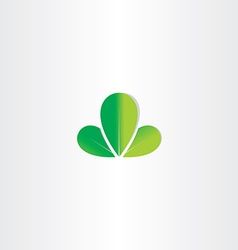 eco green leaves symbol vector image vector image