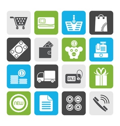 Flat Online shop icons vector image