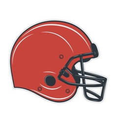 Football helmet on white background vector