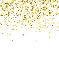 golden stars falling from the sky on white vector image vector image