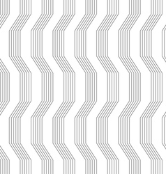 Gray ornament with warping stripes vector