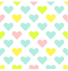 Heart shapes cute baby seamless pattern vector