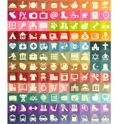 Icon set for useful places vector image vector image