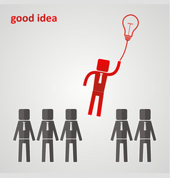 leadership concept - leader flies to the light vector image