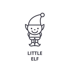 little elf line icon outline sign linear symbol vector image