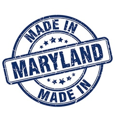 made in Maryland vector image vector image