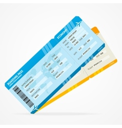 Modern Airline boarding pass tickets vector image vector image