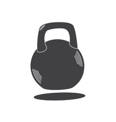 Monochrome kettlebell icon vector