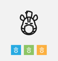of zoology symbol on zebra vector image