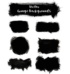 Paint Grunge Backgrounds Set vector image vector image