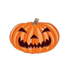 Smile pumpkin single halloween design element vector