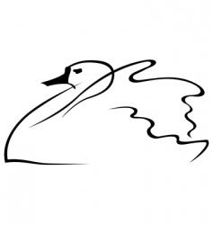 swan sketch vector image