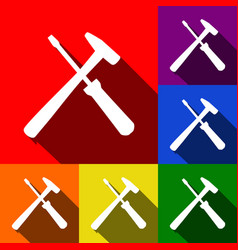 tools sign set of icons with vector image