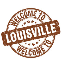 welcome to louisville vector image vector image