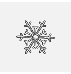 Snowflake sketch icon vector