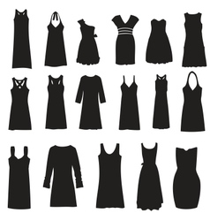 Set of dresses isolated on white background vector