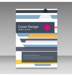 Straight lines abstract brochure template vector