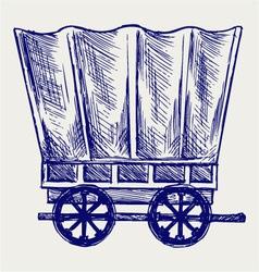 Vintage van to transport vector image