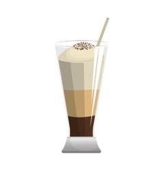 Delicious ice coffee isolated vector