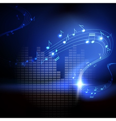 background with musical notes vector image