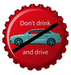 Don't drink and drive vector