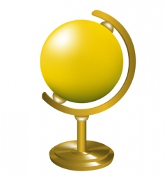 globe on stand vector image