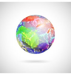 Abstract ball of colored spots vector