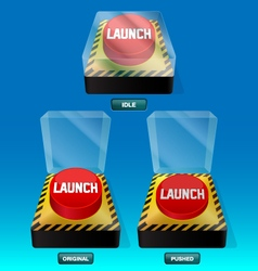 Launch button 3 different states vector