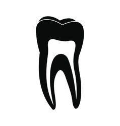 Human tooth black icon vector