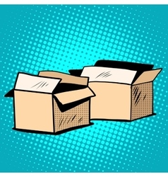 Packaging boxes cardboard retro vector