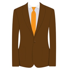 Brown businessman suit vector