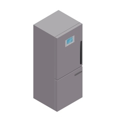 isolated isometric fridge vector image
