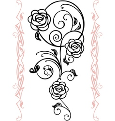 abstract floral silhouette vector image vector image