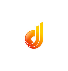 abstract letter d technology logo vector image