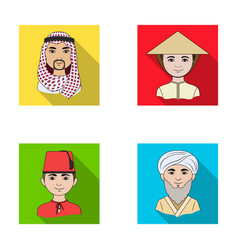 Arab turks vietnamese middle asia man human vector