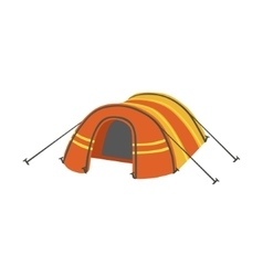 Arched orange bright color tarpaulin tent vector