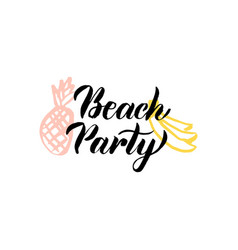 Beach party lettering vector