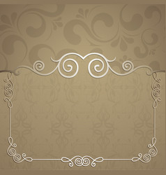 beautiful frame for design vector image