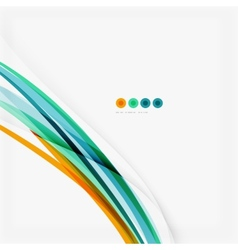 Blue and orange color line abstract background vector image