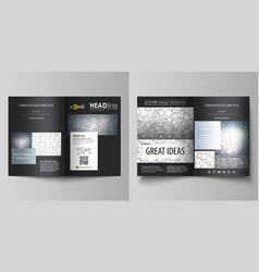 business templates for bi fold brochure flyer vector image