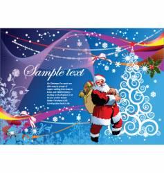 Christmas and santa vector image vector image