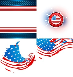 Collection of american flag vector
