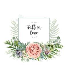 floral invite greeting postcard card design vector image