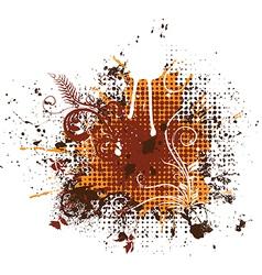 Grunge floral elements vector